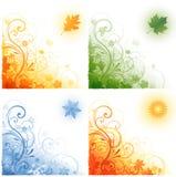 Hintergrund mit vier Jahreszeiten Stockbilder
