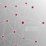 Hintergrund mit Volumenpapier mit den roten Punkten untereinander verbunden Stockbilder