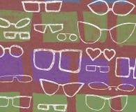 Hintergrund mit weißen Gläsern lizenzfreies stockfoto