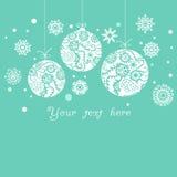 Hintergrund mit Weihnachten Stockbilder