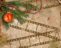 Hintergrund mit Weihnachtsbaum Lizenzfreie Stockbilder