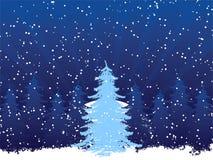 Hintergrund mit Weihnachtsbaum Lizenzfreies Stockfoto