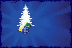 Hintergrund mit Weihnachtsbaum Stockfotos