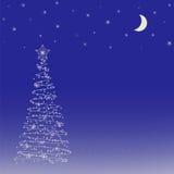 Hintergrund mit Weihnachtsbaum. Lizenzfreie Stockfotos