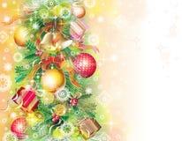 Hintergrund mit Weihnachtssymbolen Stockfotos