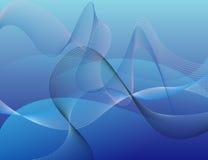Hintergrund mit Wellen, abstrakte Verzierung Lizenzfreie Stockbilder