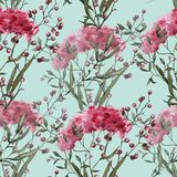 Hintergrund mit Wildflowers Nahtloses Muster Stockbild