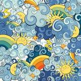 Hintergrund mit Wolken stockbilder