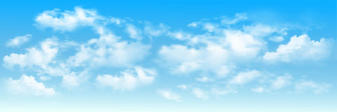 Hintergrund mit Wolken auf blauem Himmel stock abbildung