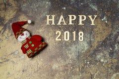 Hintergrund mit Wort 2018 guten Rutsch ins Neue Jahr Stockfoto
