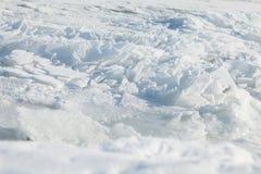 Hintergrund mit zerbrochenem Eis Stockbild