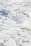 Hintergrund mit zerbrochenem Eis Stockfotos