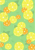 Hintergrund mit Zitronen lizenzfreie abbildung