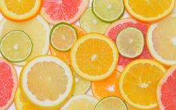 Hintergrund mit Zitrusfrucht Lizenzfreie Stockfotos