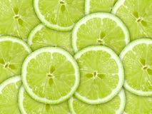 Hintergrund mit Zitrusfrucht der Kalkscheiben Stockfotos