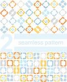 Hintergrund, Muster, Gelb, blaue Quadrate Lizenzfreie Stockfotos