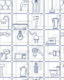 Hintergrund, Muster, Werkzeuge, Haushaltswaren Lizenzfreie Stockbilder