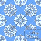 Hintergrund nahtlos von den Schneeflocken für fröhliches Chri Stockfotos