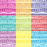 Hintergrund neun mit geometrischen Verzierungen Lizenzfreies Stockbild