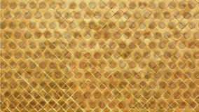 Hintergrund oder Beschaffenheit gemacht vom quadratischen Mosaik- und Bienenwabenmuster in der gelben Farbe Stockfotos