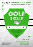 Hintergrund oder Schablone für Ihr Golfdesign Lizenzfreie Stockfotografie