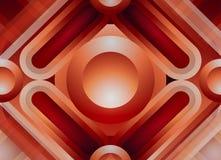 Hintergrund, Rahmen für das Scrapbooking von den geometrischen Formen, helle glühende Herbstfarben lizenzfreie abbildung