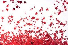 Hintergrund: Rote Sterne Lizenzfreies Stockfoto