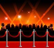 Hintergrund roten Teppichs Hollywood stock abbildung
