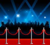 Hintergrund roten Teppichs Hollywood lizenzfreie abbildung