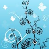 Hintergrund, Schönheit, Auslegung, mit Blumen Lizenzfreie Stockfotos