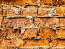 Hintergrund, sehr alte Backsteinmauerbeschaffenheit Lizenzfreies Stockbild