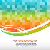 Hintergrund-Seite-Broschüre-Mosaik-Quadrat-Aufkleber-Produkt Stockfotografie