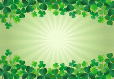 Hintergrund Shamrock-St. Patricks Tages Lizenzfreies Stockbild