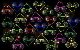 Hintergrund-Sonnenbrille Lizenzfreie Stockfotografie