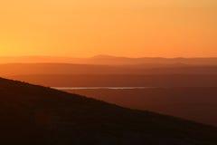 Hintergrund-Sonnenuntergang Cadillac Mtn Lizenzfreie Stockfotos