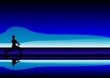 Hintergrund - Taichi Schattenbild Stockbilder