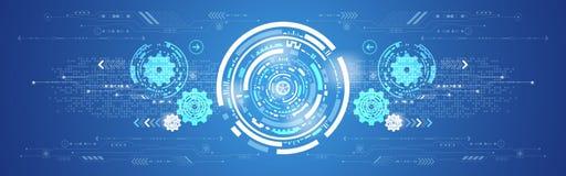 Hintergrund-Technologieinnovation des Vektors abstrakte Lizenzfreie Stockfotos