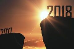 Hintergrund 2017 und 2018 Lizenzfreie Stockfotos
