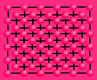 Hintergrund und Beschaffenheit machten †‹â€ ‹mit dekorativen rosa Bällen Stockfotos