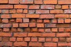 Hintergrund und Beschaffenheit Strukturierte alte Backsteinmauer Stockfoto