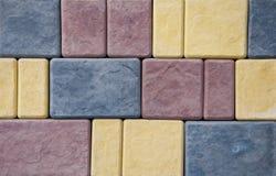 Hintergrund und Beschaffenheit von Ziegelsteinen auf der Wand spr?nge Schlitz-Schaden lizenzfreie abbildung