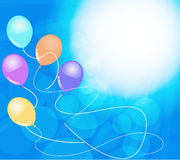 Fahnen mit bunten Ballonen Stockbild