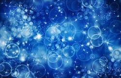 Hintergrund und helle Blinken und geglänzte Partikel Stockfotografie