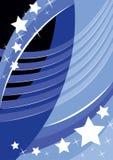 Hintergrund und Sterne lizenzfreie abbildung