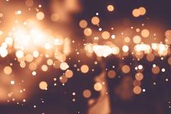 Hintergrund unscharfes bokeh Licht-Zeremonien Beleuchten Sie die Lichter nachts in den Feiern lizenzfreie stockfotografie