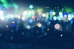 Hintergrund unscharfes bokeh Licht-Zeremonien Beleuchten Sie die Lichter nachts in den Feiern stockbilder