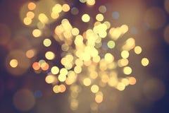 Hintergrund unscharfes bokeh Licht-Zeremonien Beleuchten Sie die Lichter nachts in den Feiern lizenzfreie stockbilder
