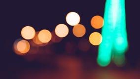 Hintergrund unscharfes bokeh Licht-Zeremonien Beleuchten Sie die Lichter nachts in den Feiern lizenzfreie stockfotos