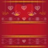 Hintergrund - Valentinsgruß-Tag Stockbild