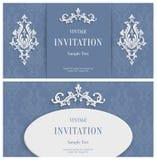 Hintergrund Vektor-Grey Florals 3d Schablone für Gruß-oder Einladungs-Karten Stockfotos